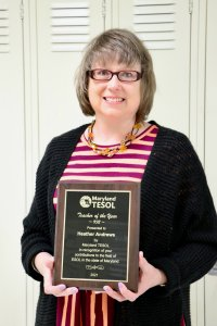 heather andrews TESOL of the year
